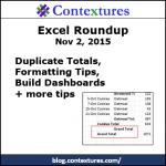 Excel Roundup 20151102