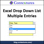 Drop Down List Multiple Entries http://blog.contextures.com/