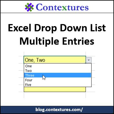 Drop Down List Multiple Entries http://blog.contextures.com/