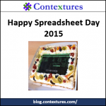 Happy Spreadsheet Day 2015