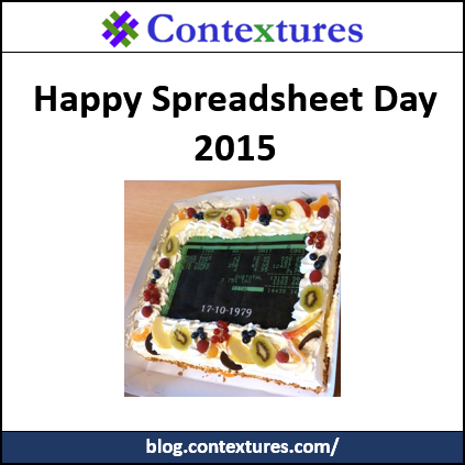 Spreadsheet Day 2015 http://blog.contextures.com/