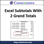 Excel Subtotals With Duplicate Grand Totals