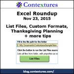 Excel Roundup 20151123