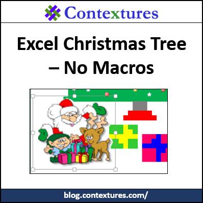 Excel Christmas Tree – no macros http://blog.contextures.com/