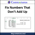 Fix Numbers That Don't Add Up http://blog.contextures.com/