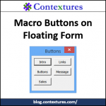 Excel Macro Buttons on Floating Form