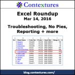 Excel Roundup 20160314