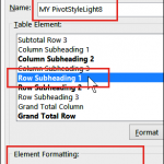 How to Create a Pivot Table Style