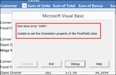 Macro to Remove Pivot Table Calculated Fields error