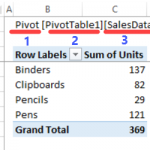 How to Show Excel Table Name on the Sheet