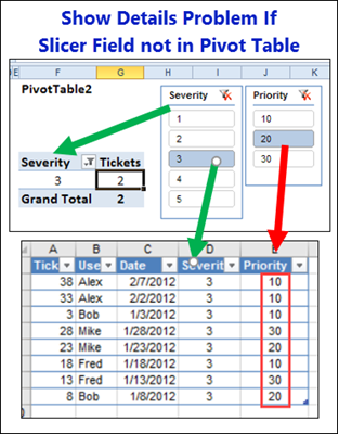 Excel Pivot Table Show Details