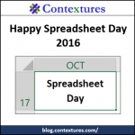 Happy Spreadsheet Day 2016