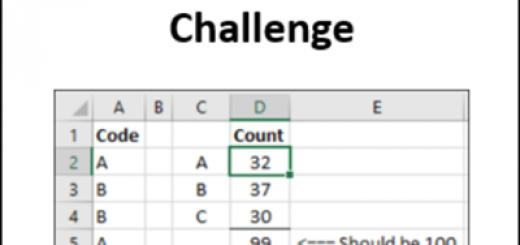 Excel COUNTIF Challenge http://blog.contextures.com/