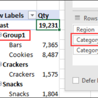 Pivot Table Subtotal Problem