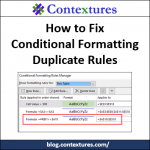 Fix Excel Conditional Formatting Duplicate Rules