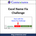 Take the Excel Name Fix Challenge