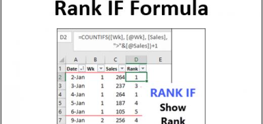 Excel Rank IF Formula http://blog.contextures.com/