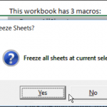 Excel Freeze All Worksheets Macro