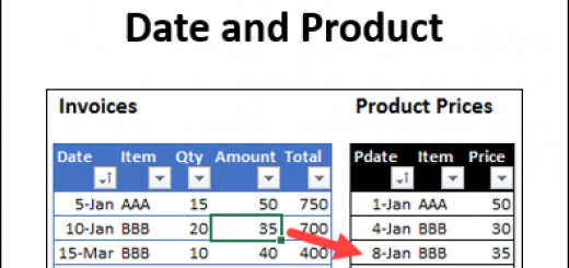 Price Lookup for Date and Product http://blog.contextures.com/