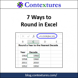 7 Ways to Round in Excel http://blog.contextures.com/