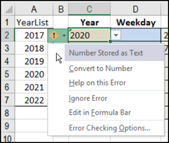 Excel Combo Box Number Problem