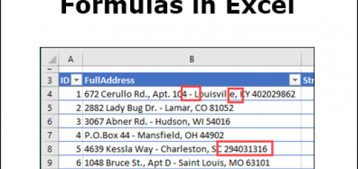 Split Address With Formulas in Excel http://blog.contextures.com/