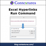 Excel Hyperlinks Run Command Files
