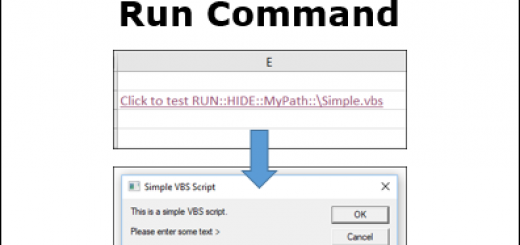 Excel Hyperlinks Run Command http://blog.contextures.com/