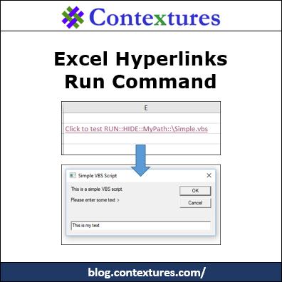 Excel Hyperlinks Run Command http://blog.contextures.com/