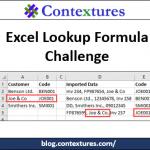 Excel Lookup Formula Challenge 20171026