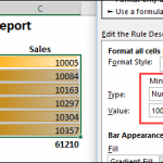 How to Fix Excel Data Bars Appearance