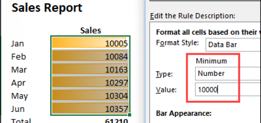 How to fix Excel Data Bars
