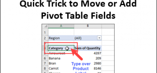 Quick Trick to Add or Move Pivot Table Fields http://blog.contextures.com/