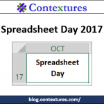 Happy Spreadsheet Day 2017