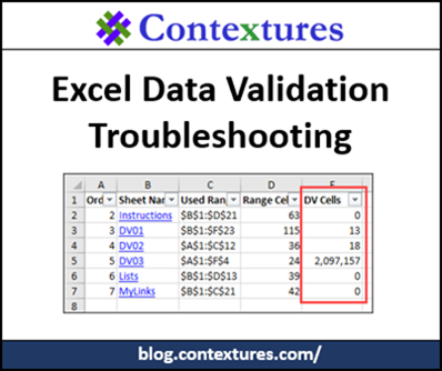 Excel Data Validation Troubleshooting http://blog.contextures.com/