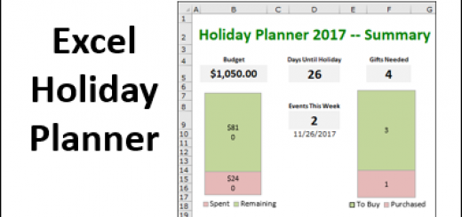 Excel Holiday Planner http://blog.contextures.com/