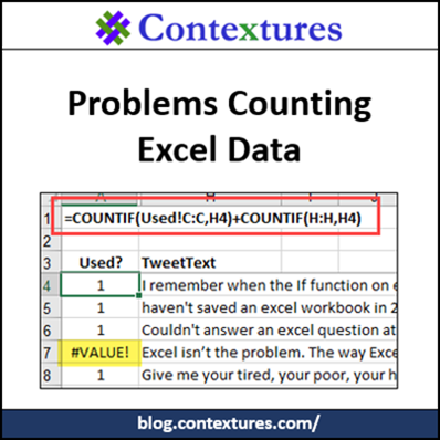 Problems Counting Excel Data http://blog.contextures.com/