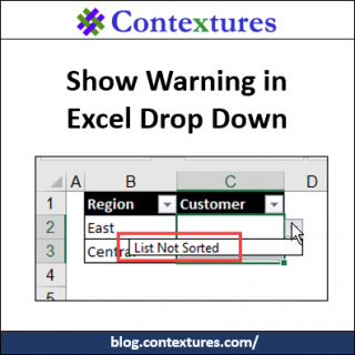 Show Warning in Excel Drop Down http://blog.contextures.com/