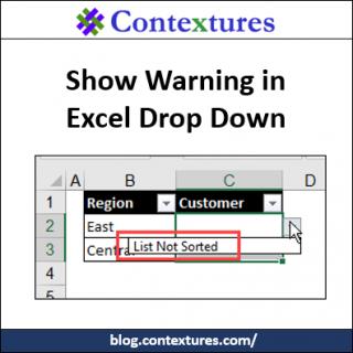 Show Warning in Excel Drop Down http://blog.contextures.com/