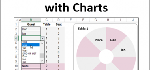 Excel Seating Plan with Charts http://blog.contextures.com/