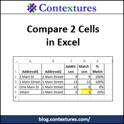 Compare Two Cells in Excel