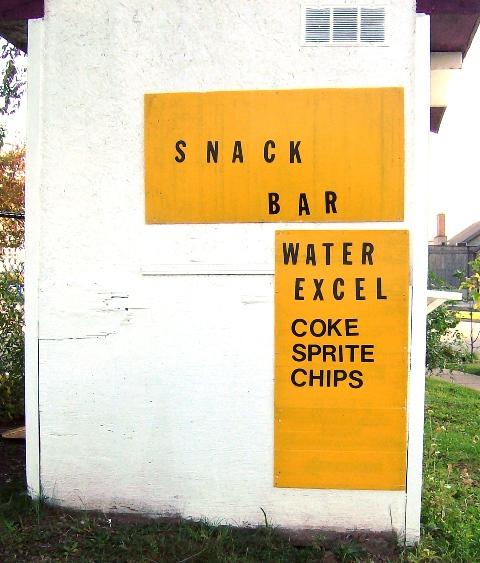 Snack Bar Excel