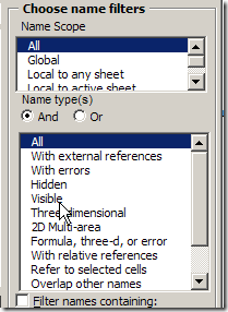 NameManagerFilters