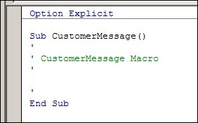 Excel VBA code 01