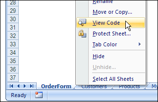 Excel View Code