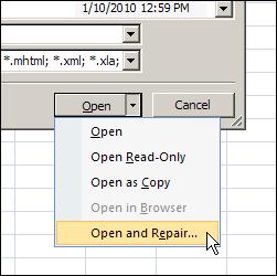 OpenAndRepair