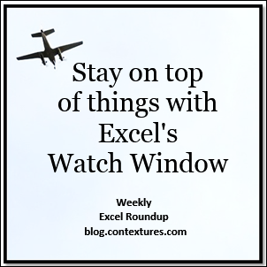 Stay on top of things with Excel's  Watch Window blog.contextures.com/
